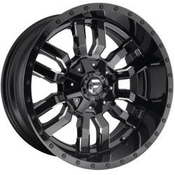 Fuel Sledge D595 9.0x18 Black Gloss Milled