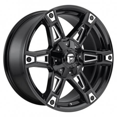 Fuel Dakar D622 9.0x20 Black Gloss Milled