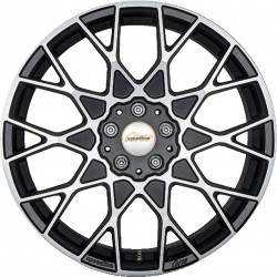 Speed Line Cesare 10.5x21 Matt Black Front Diamond Cut