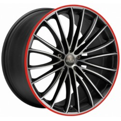 Corspeed Le Mans 8.0x18 Matt Black Polished Colour Trim