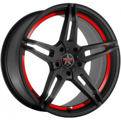 Barracuda Starzz 8.0x18 Matt Black Puresports Colour Trim