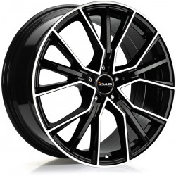 Avus Racing AF18 8.5x19 Black Polish