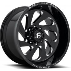 Fuel Vortex D637 12.0x22 Black Gloss Milled