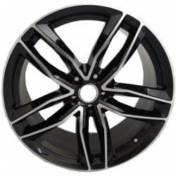RS6 7.5x17 Black Polished